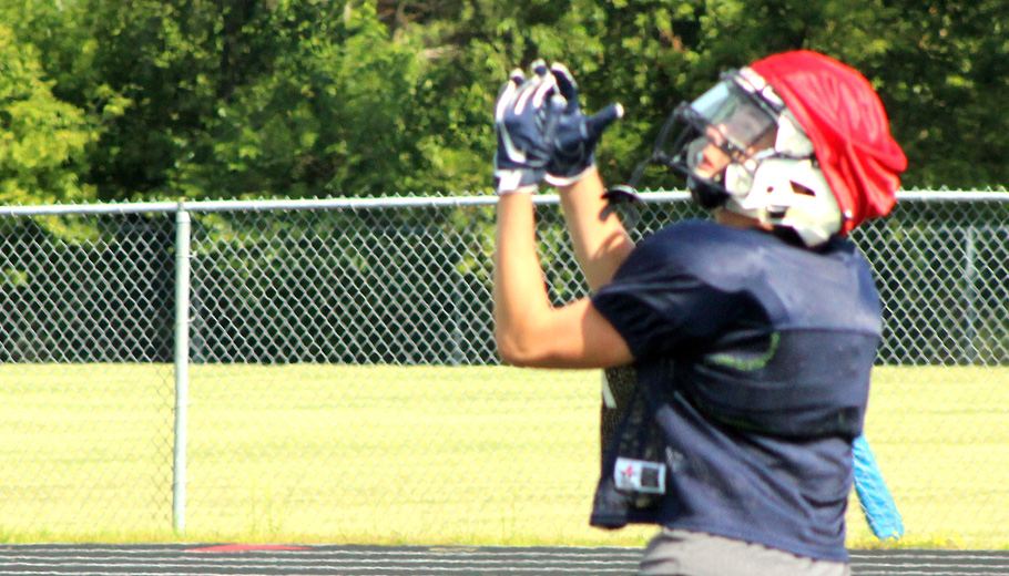 Devin Geary is ready to make a catch for a touchdown.Greg Seubert Photo